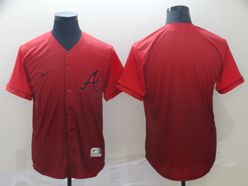 Braves Blank Red Drift Fashion Jersey