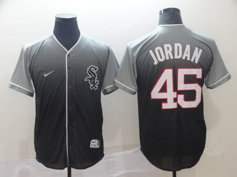 White Sox 45 Michael Jordan Gray Drift Fashion Jersey