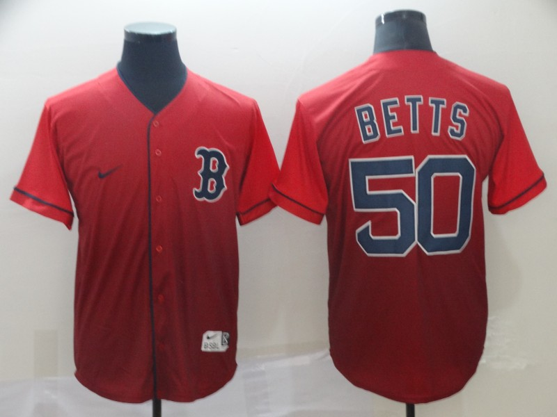 Red Sox 50 Mookie Betts Red Drift Fashion Jersey