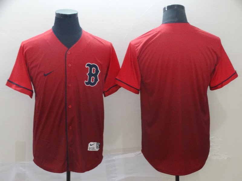 Red Sox Blank Red Drift Fashion Jersey