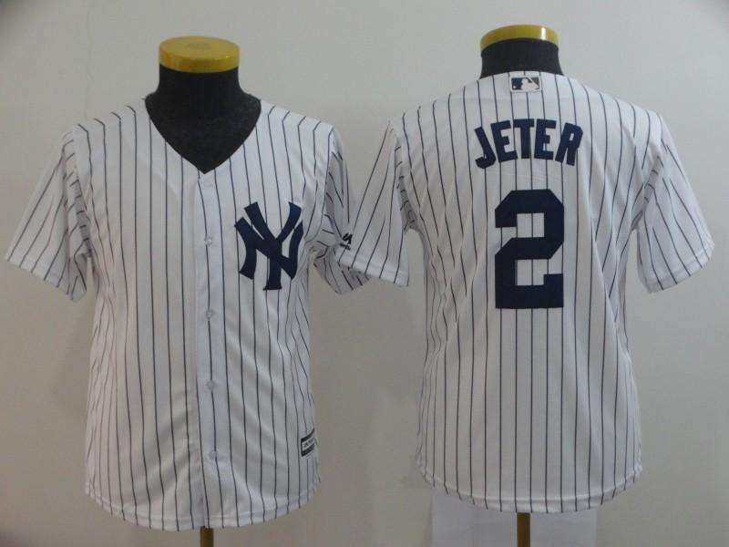 Yankees 2 Derek Jeter White New Cool Base Jersey
