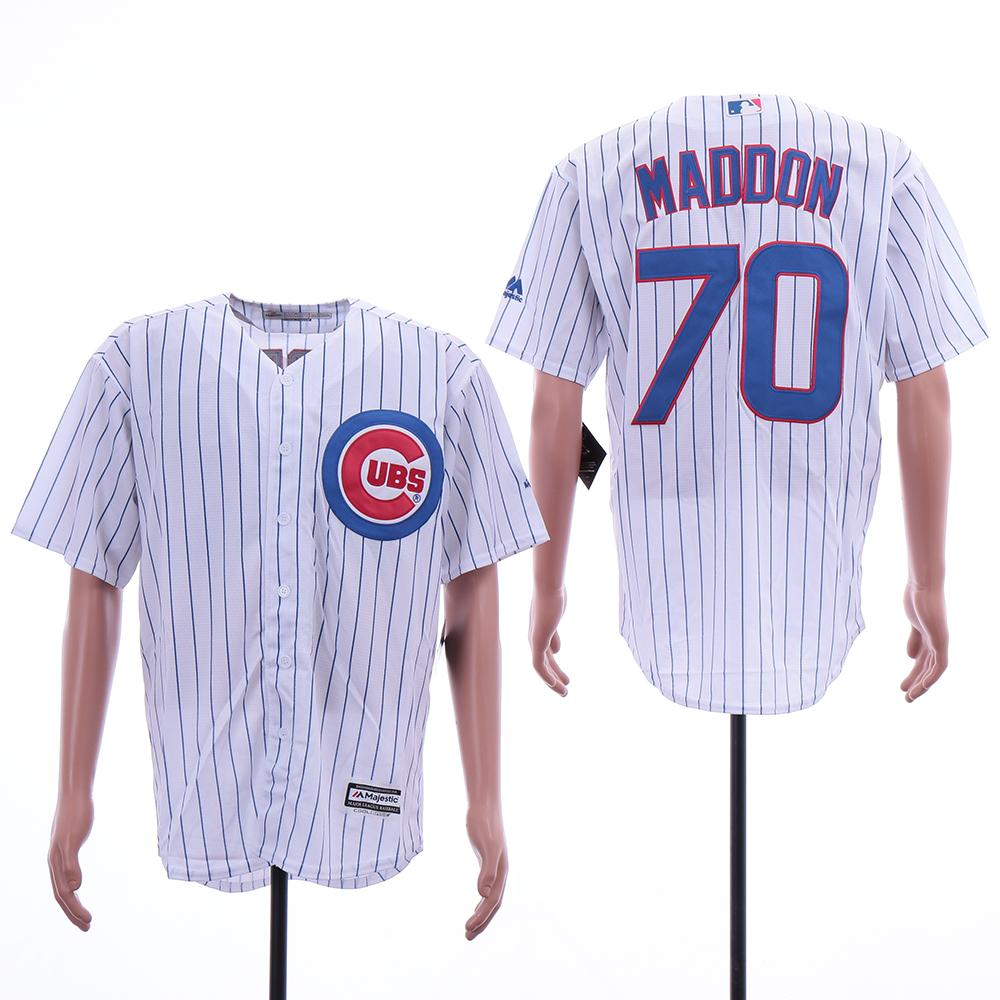 Cubs 70 Joe Maddon White Cool Base Jersey