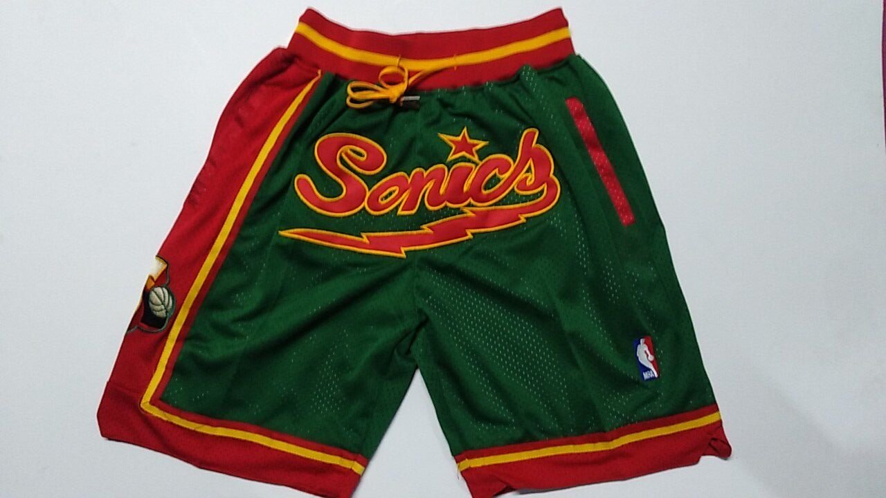 Suns Green Just Don Throwback Shorts