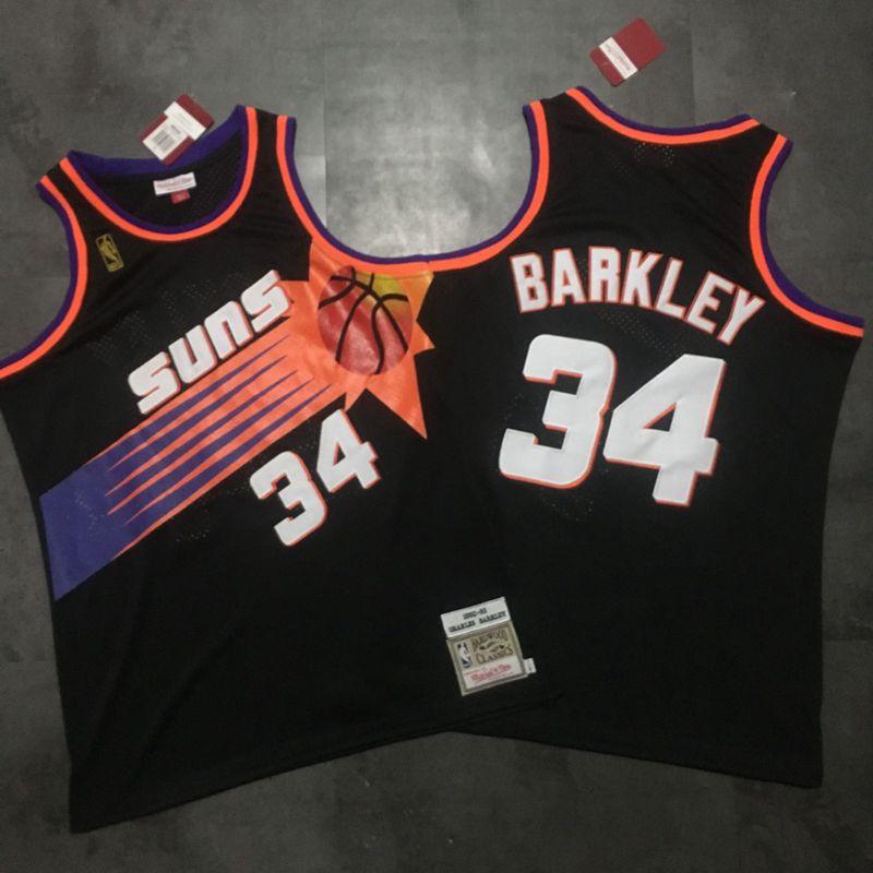 Suns 34 Charles Barkley Black 1992-93 Hardwood Classics Jersey