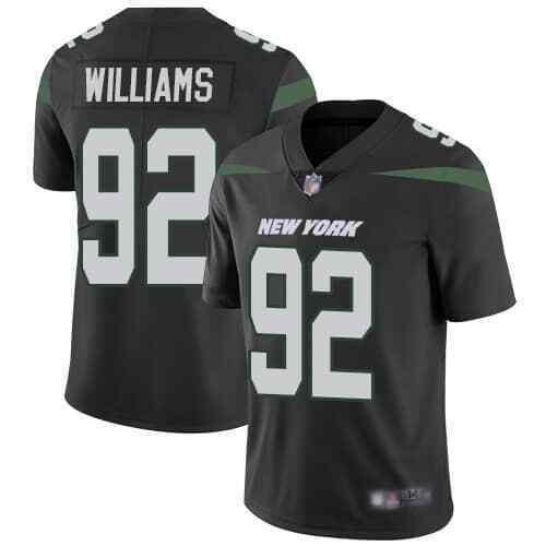 Nike Jets 92 Leonard Williams Black Youth New 2019 Vapor Untouchable Limited Jersey