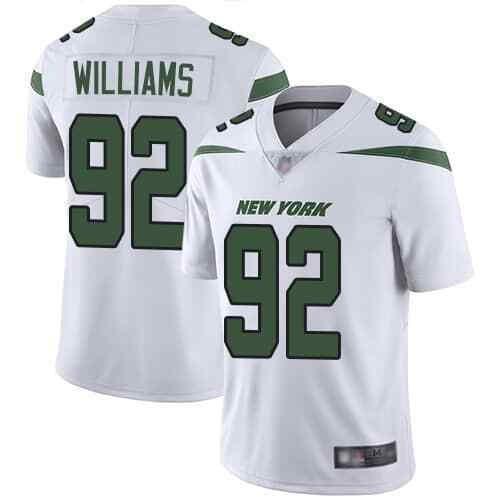 Nike Jets 92 Leonard Williams White Youth New 2019 Vapor Untouchable Limited Jersey