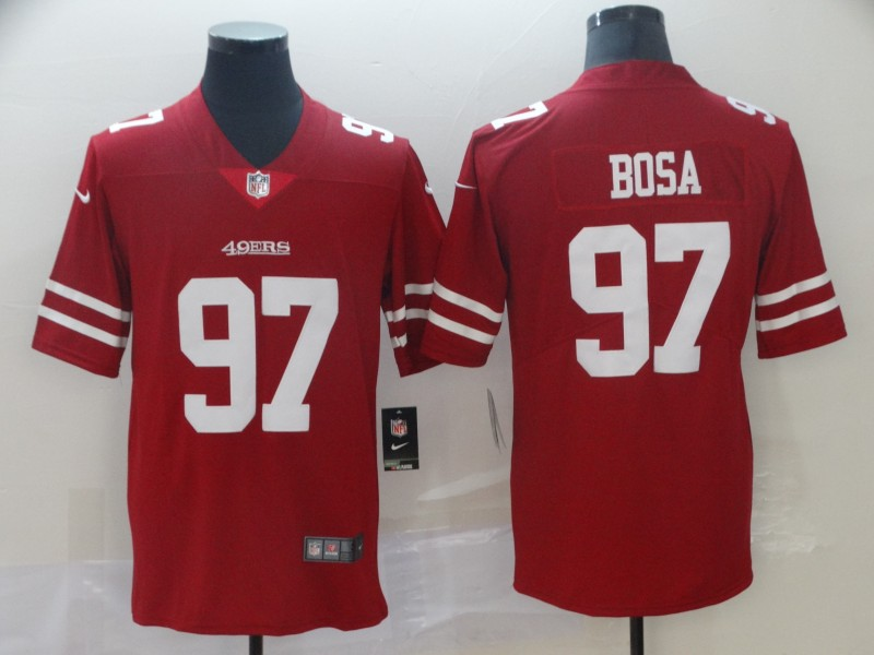 Nike 49ers 97 Nick Bosa Scarlet 2019 NFL Draft First Round Pick Vapor Untouchable Limited Jersey