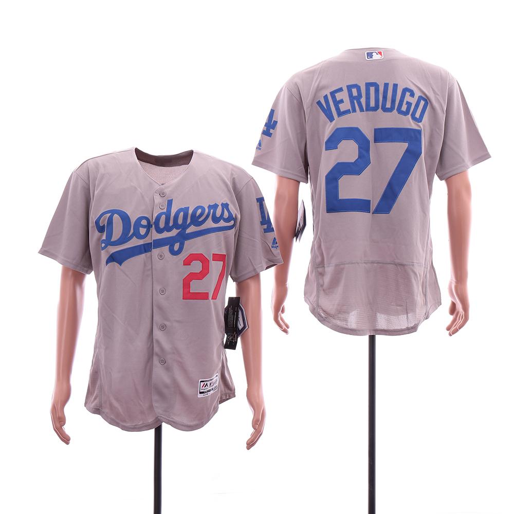 Dodgers 27 Alex Verdugo Gray Flexbase Jersey