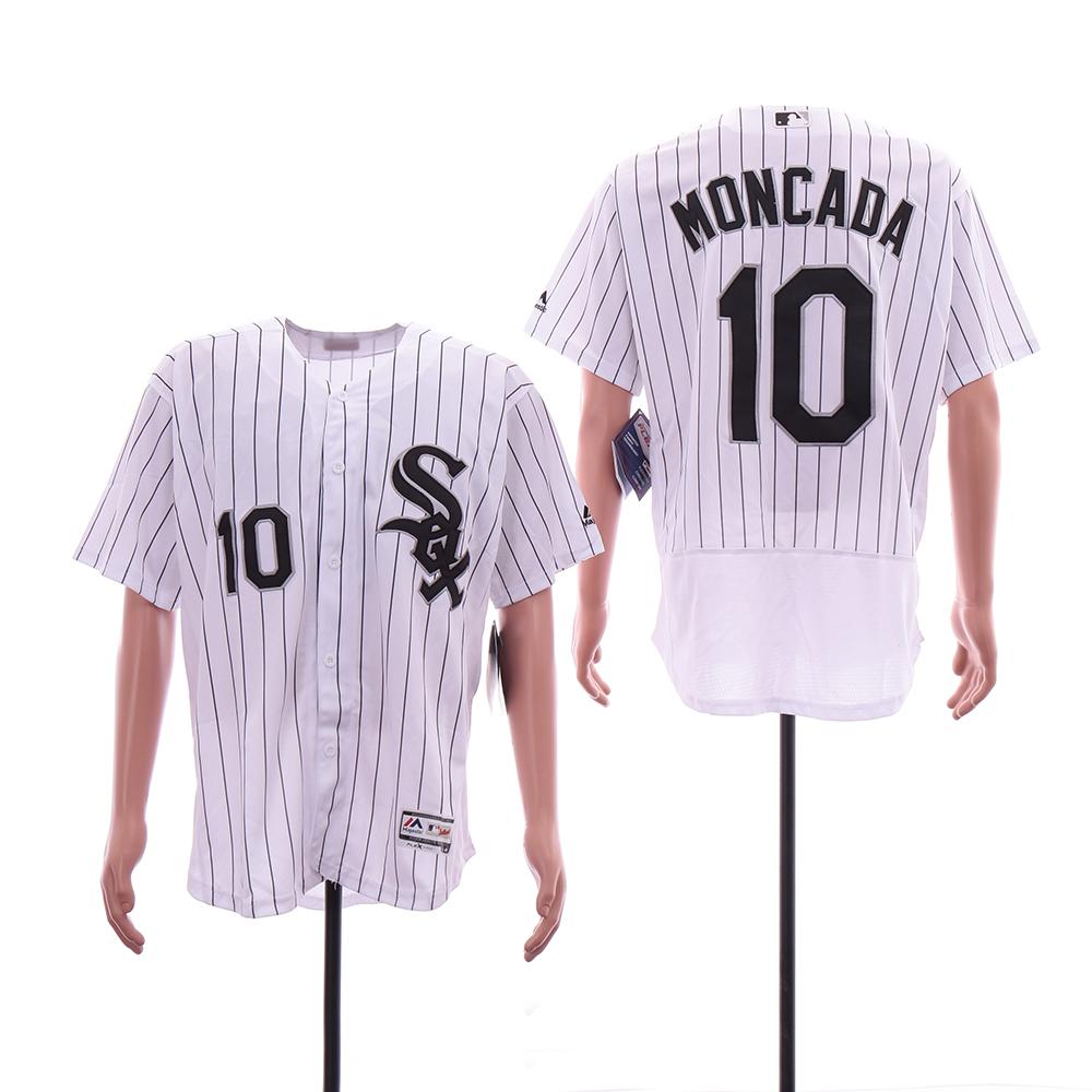 White Sox 10 Yoan Moncada White Flexbase Jersey