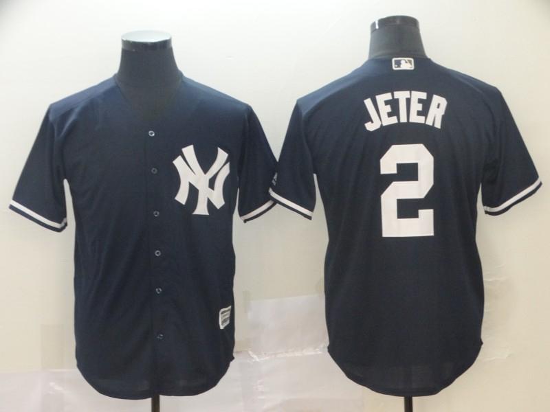 Yankees 2 Derek Jeter Navy Cool Base Jersey