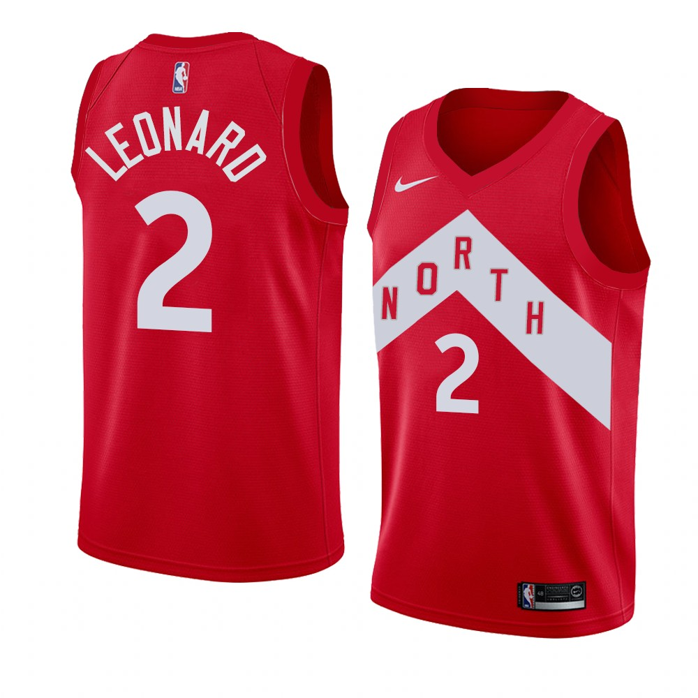 Raptors 2 Kawhi Leonard Red Earned Edition Nike Swingman Jersey