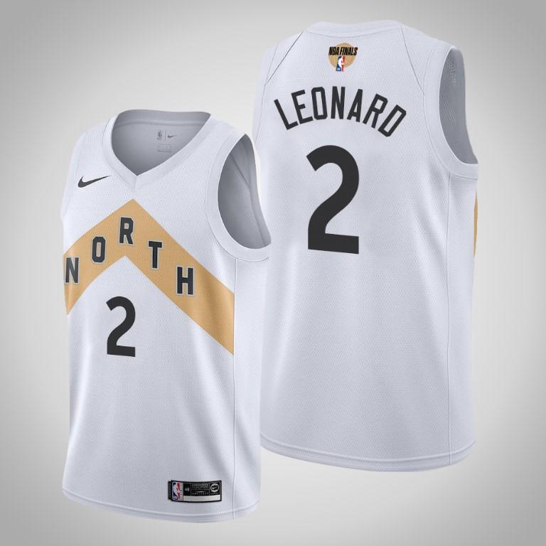 Raptors 2 Kawhi Leonard White 2019 NBA Finals Nike Swingman Jersey