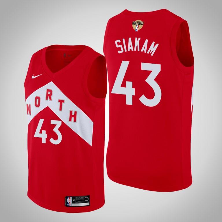 Raptors 43 Pascal Siakam Red 2019 NBA Finals Earned Edition Nike Swingman Jersey