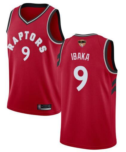 Raptors 9 Serge Ibaka Red 2019 NBA Finals Swingman Jersey