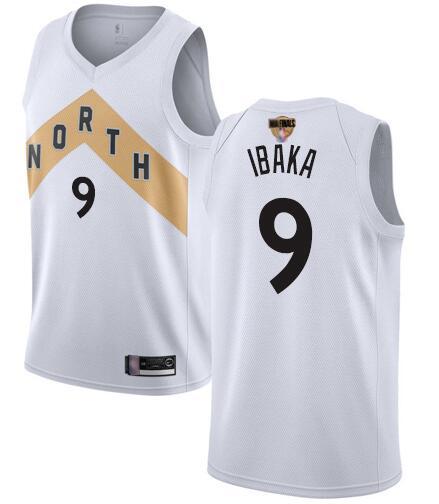 Raptors 9 Serge Ibaka White 2019 NBA Finals City Edition Swingman Jersey