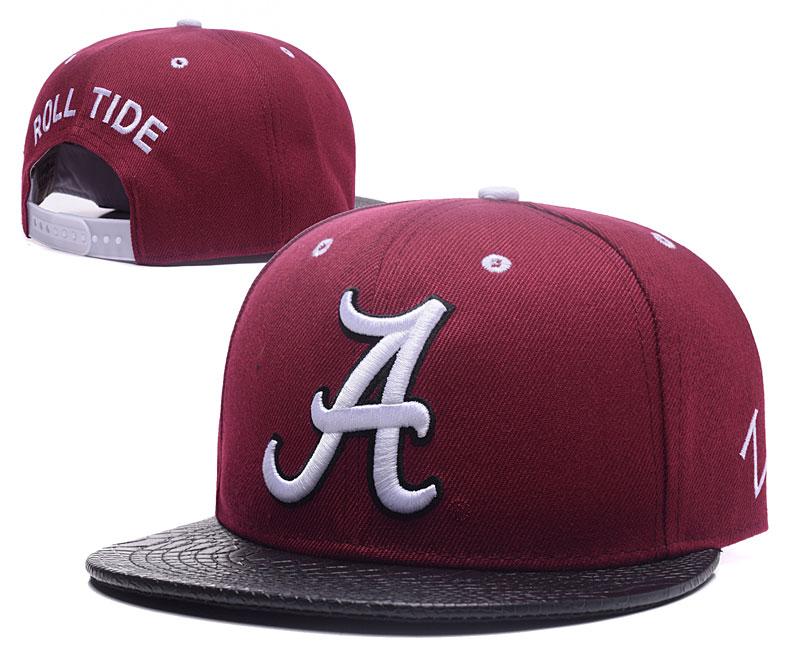 Alabama Crimson Tide Team Logo Burgundy Black Adjustable Hat GS