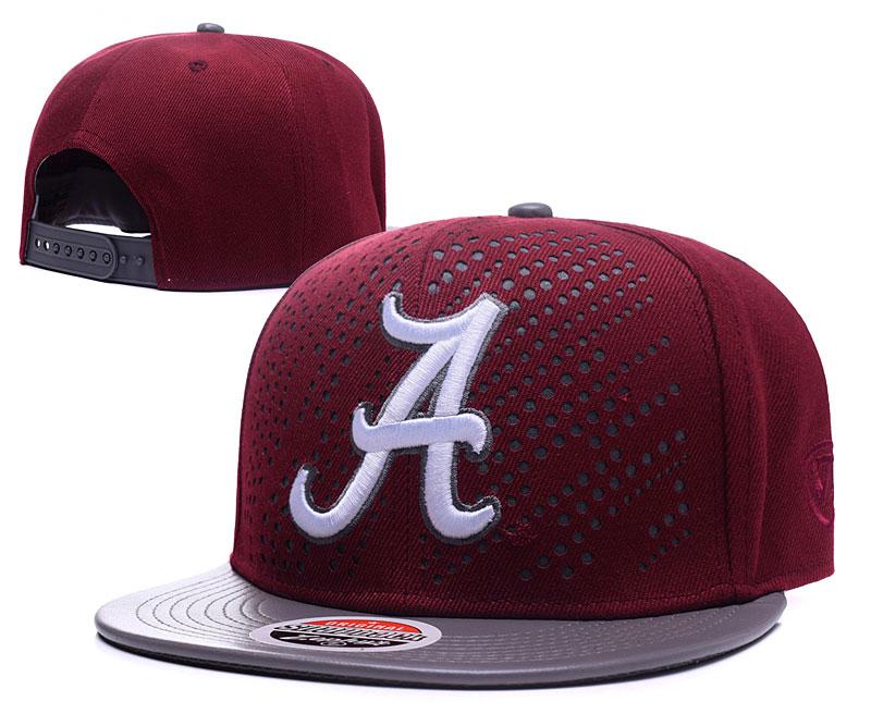 Alabama Crimson Tide Team Logo Burgundy Gray Adjustable Hat GS