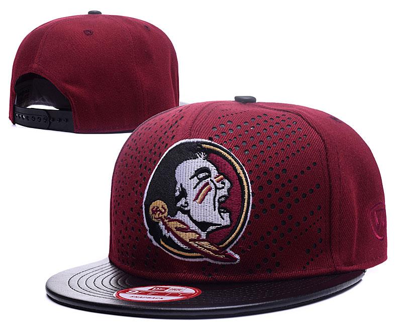 Florida State Seminoles Team Logo Red Black Adjustable Hat GS