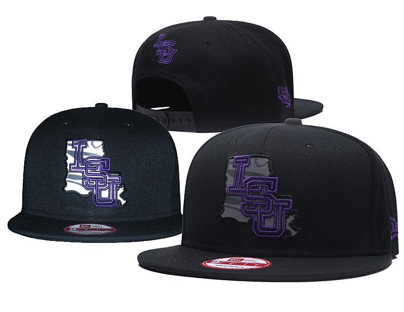 LSU Tigers Team Logo Black Adjustable Hat GS