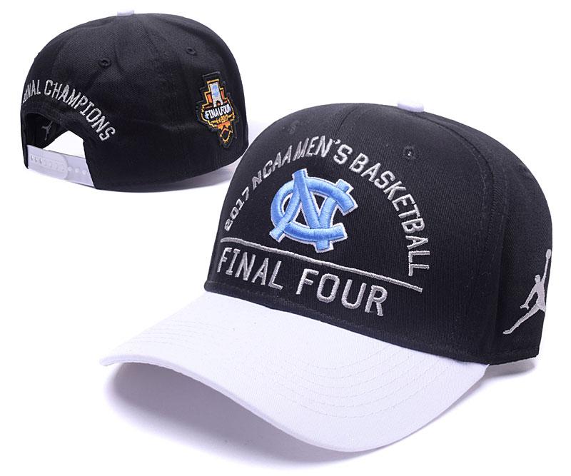 North Carolina Tar Heels Team Logo Black 2017 Final Four peaked Adjustable Hat GS
