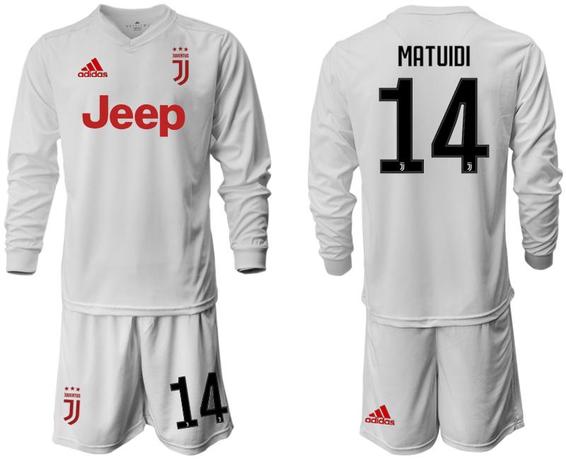 2019-20 Juventus 14 MATUIDI Long Sleeve Away Soccer Jersey