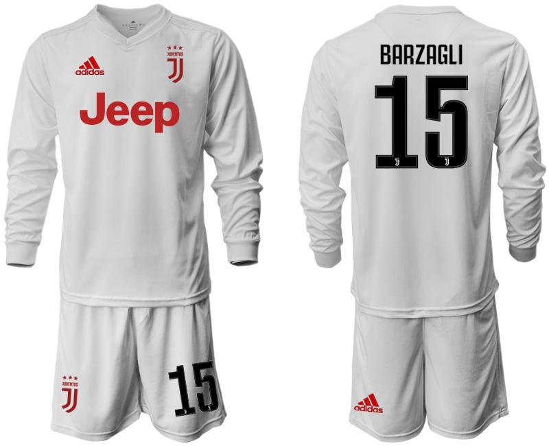 2019-20 Juventus 15 BARZAGLI Long Sleeve Away Soccer Jersey