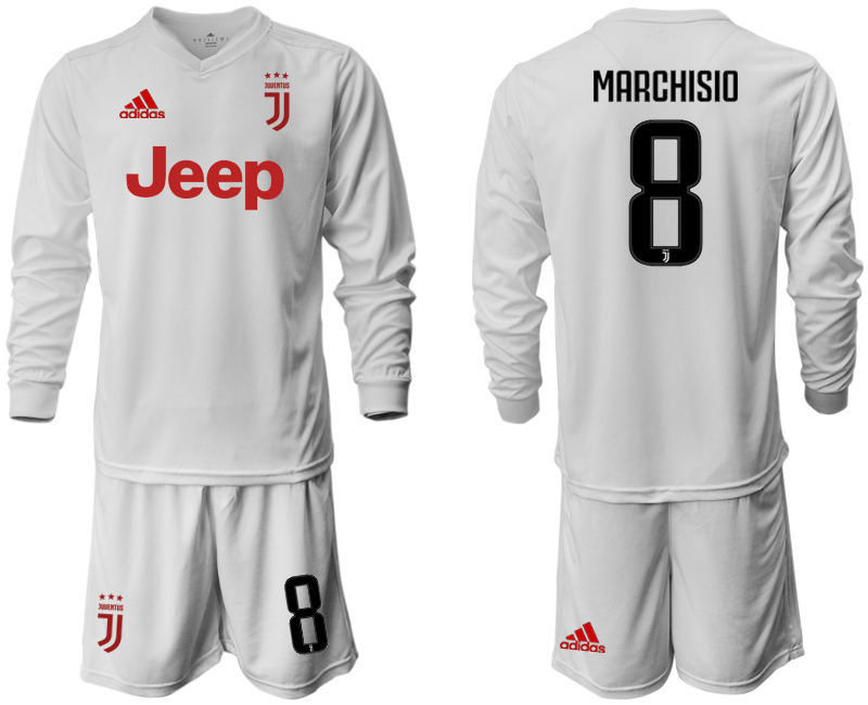 2019-20 Juventus 8 MARCHISIO Long Sleeve Away Soccer Jersey