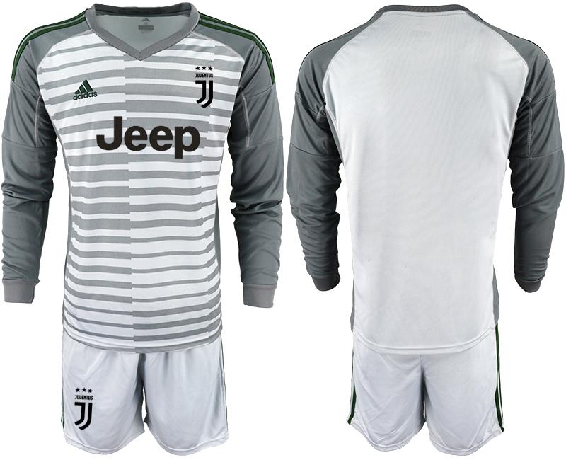2019-20 Juventus Gray Long Sleeve Goalkeeper Soccer Jersey