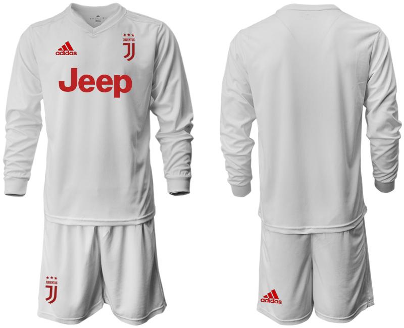 2019-20 Juventus Long Sleeve Away Soccer Jersey