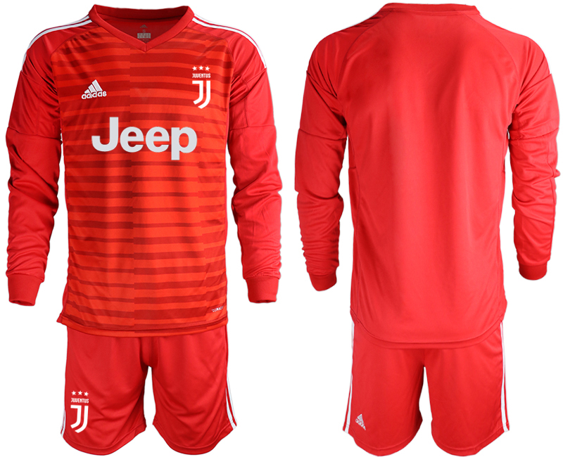2019-20 Juventus Red Long Sleeve Goalkeeper Soccer Jersey