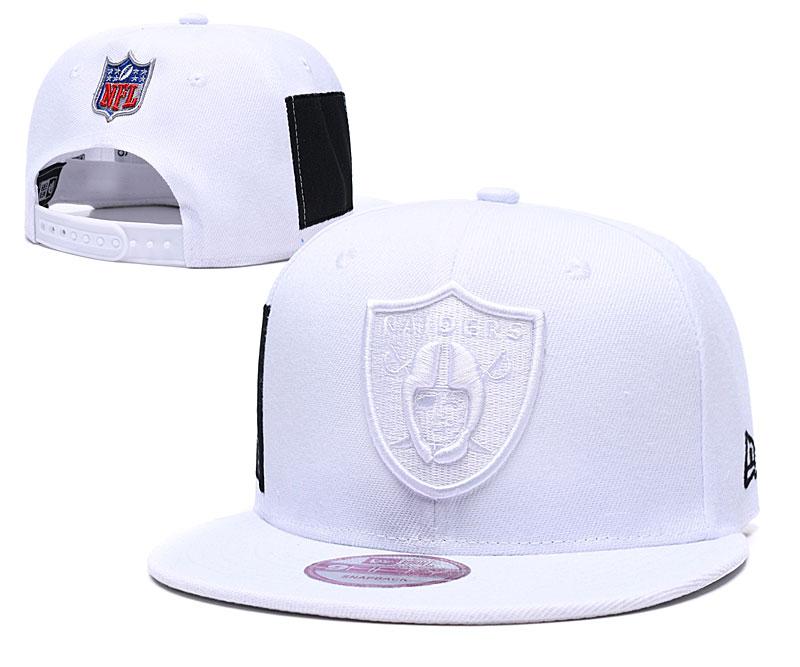 Raiders Team Logo White Adjustable Hat LT