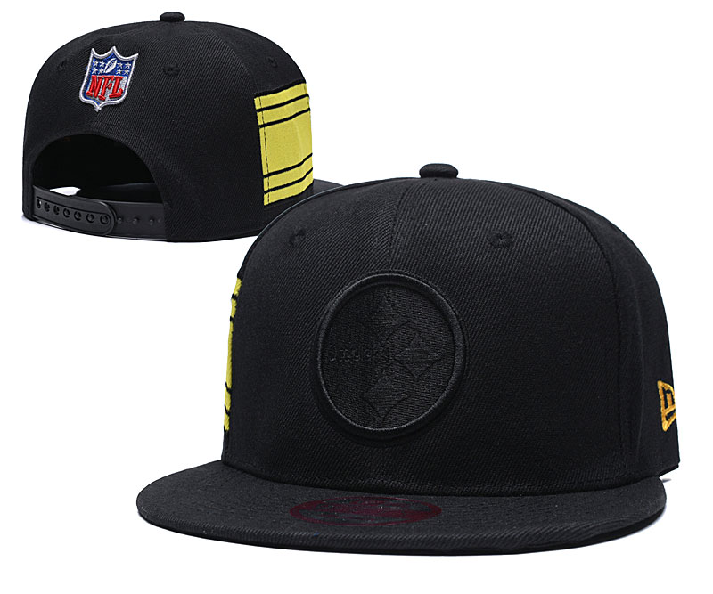 Steelers Team Logo Black Adjustable Hat LT