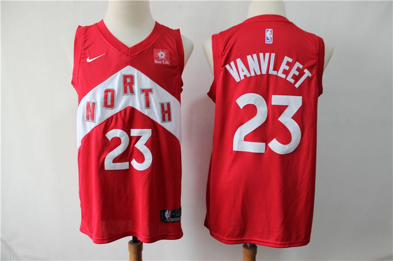 Raptors 23 Fred Vanvleet Red Earned Edition Nike Swingman Jersey