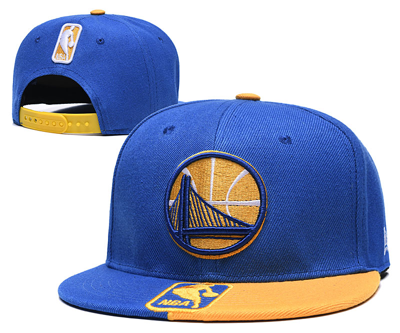 Warriors Team Logo Blue Yellow Adjustable Hat GS