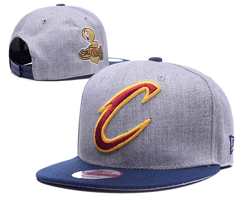 Cavaliers Team Logo Gray Navy Adjustable Hat LH