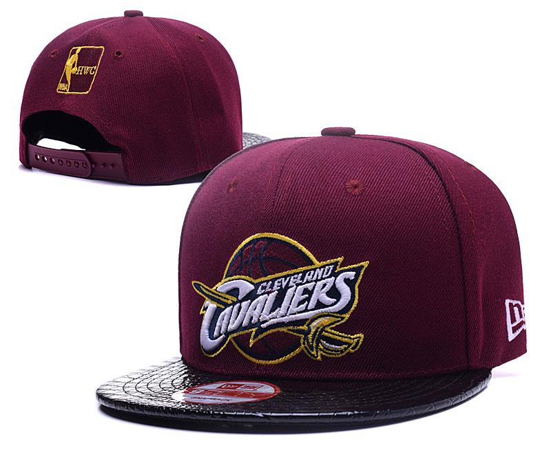 Cavaliers Team Logo Red Black Adjustable Hat LH