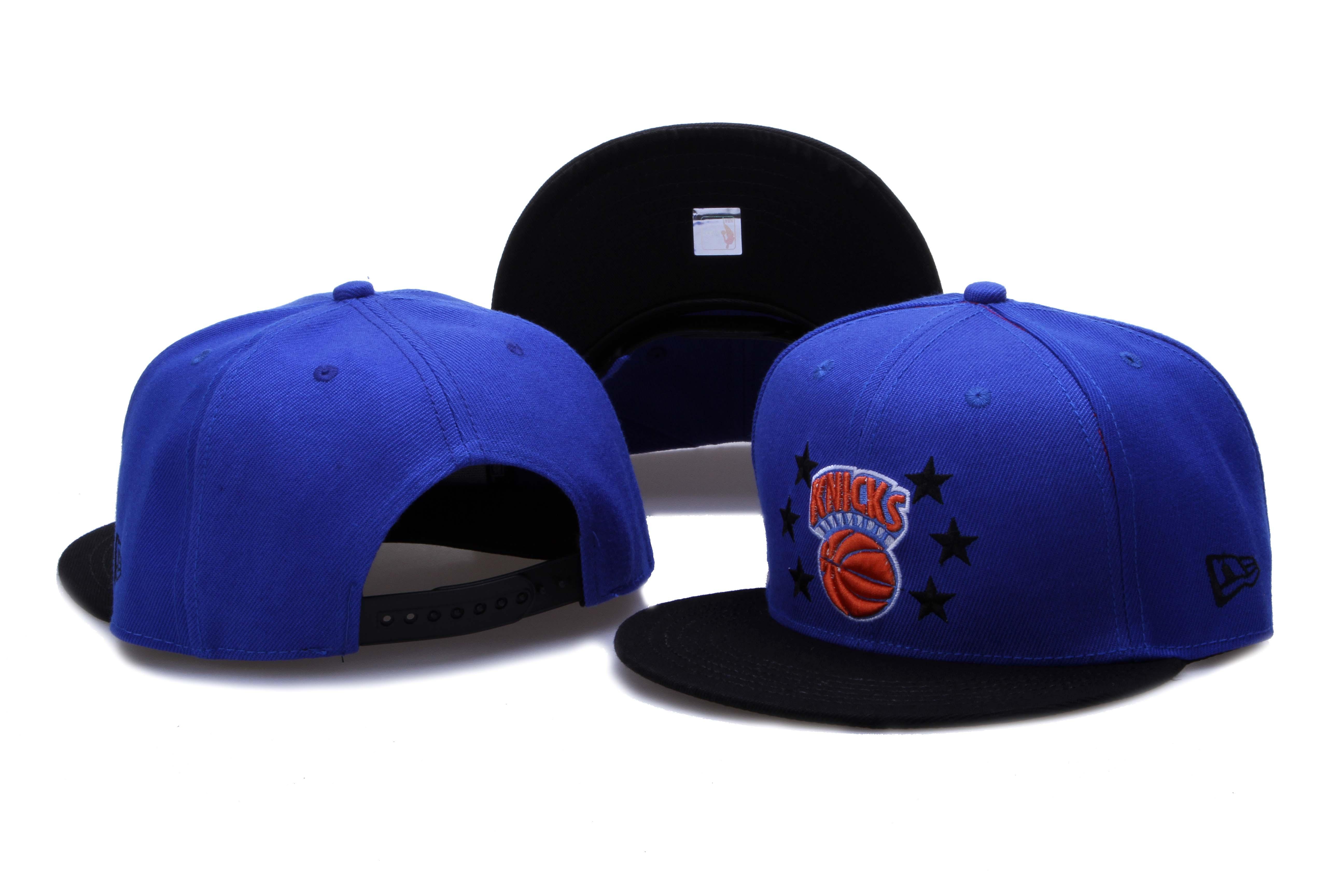 Knicks Team Logo Blue Black Adjustable Hat LH