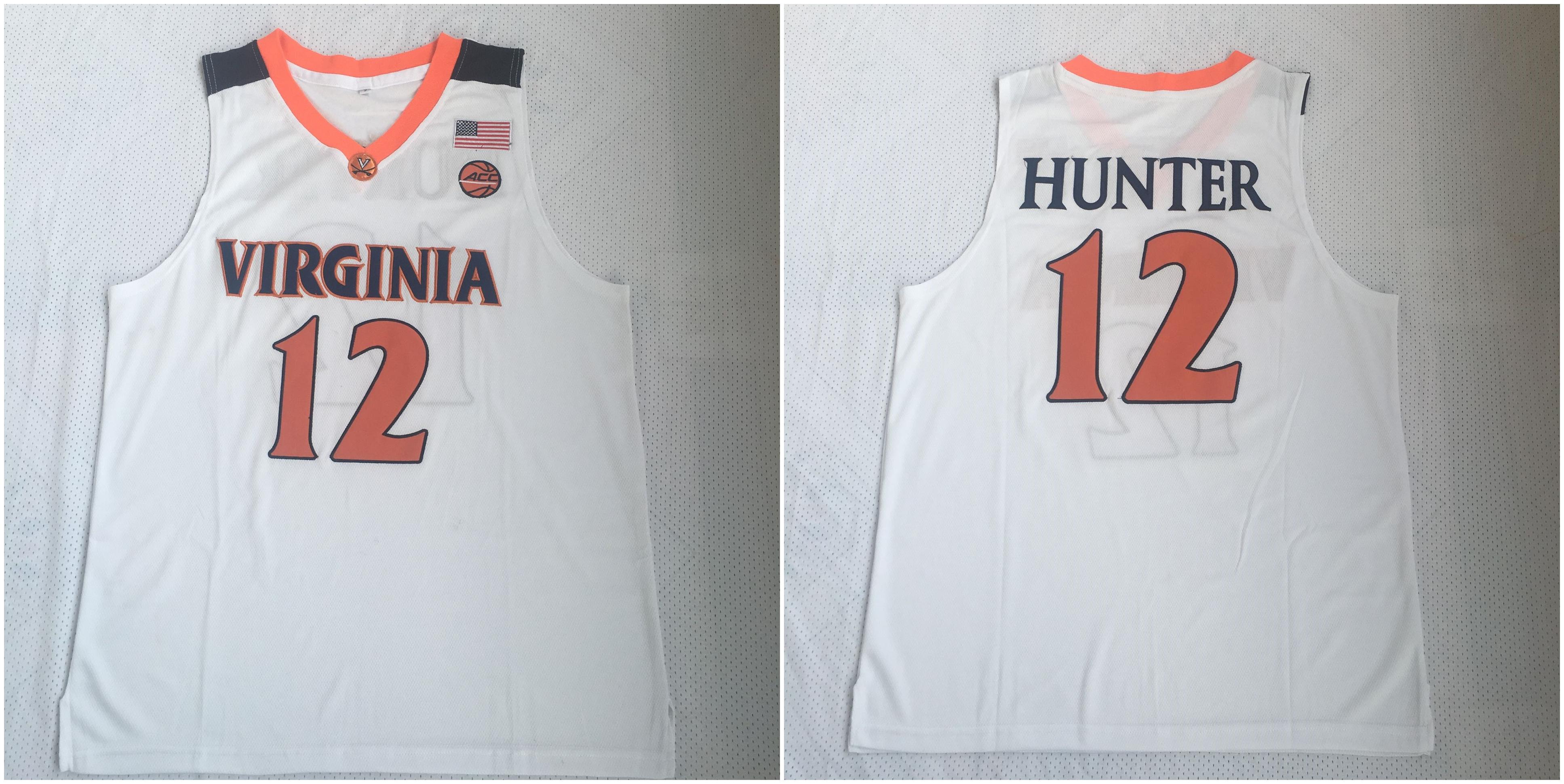 Virginia Cavaliers 12 DeAndre Hunter White College Basketball Jersey