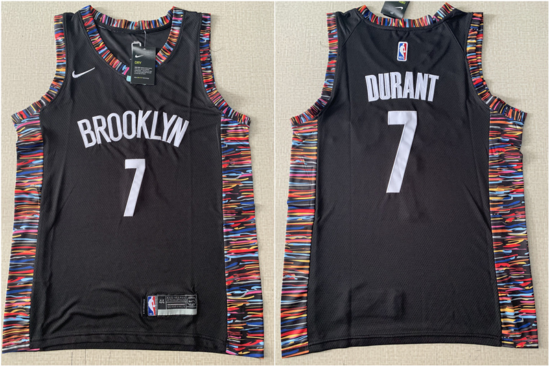 Nets 7 Kevin Durant Black City Edition Nike Swingman Jersey