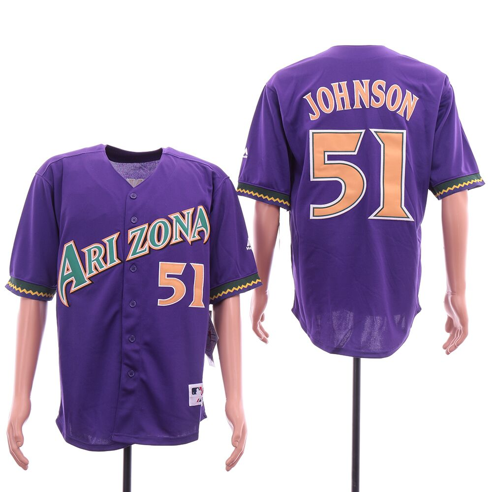 Diamondbacks 51 Randy Johnson Purple Cool Base Jersey