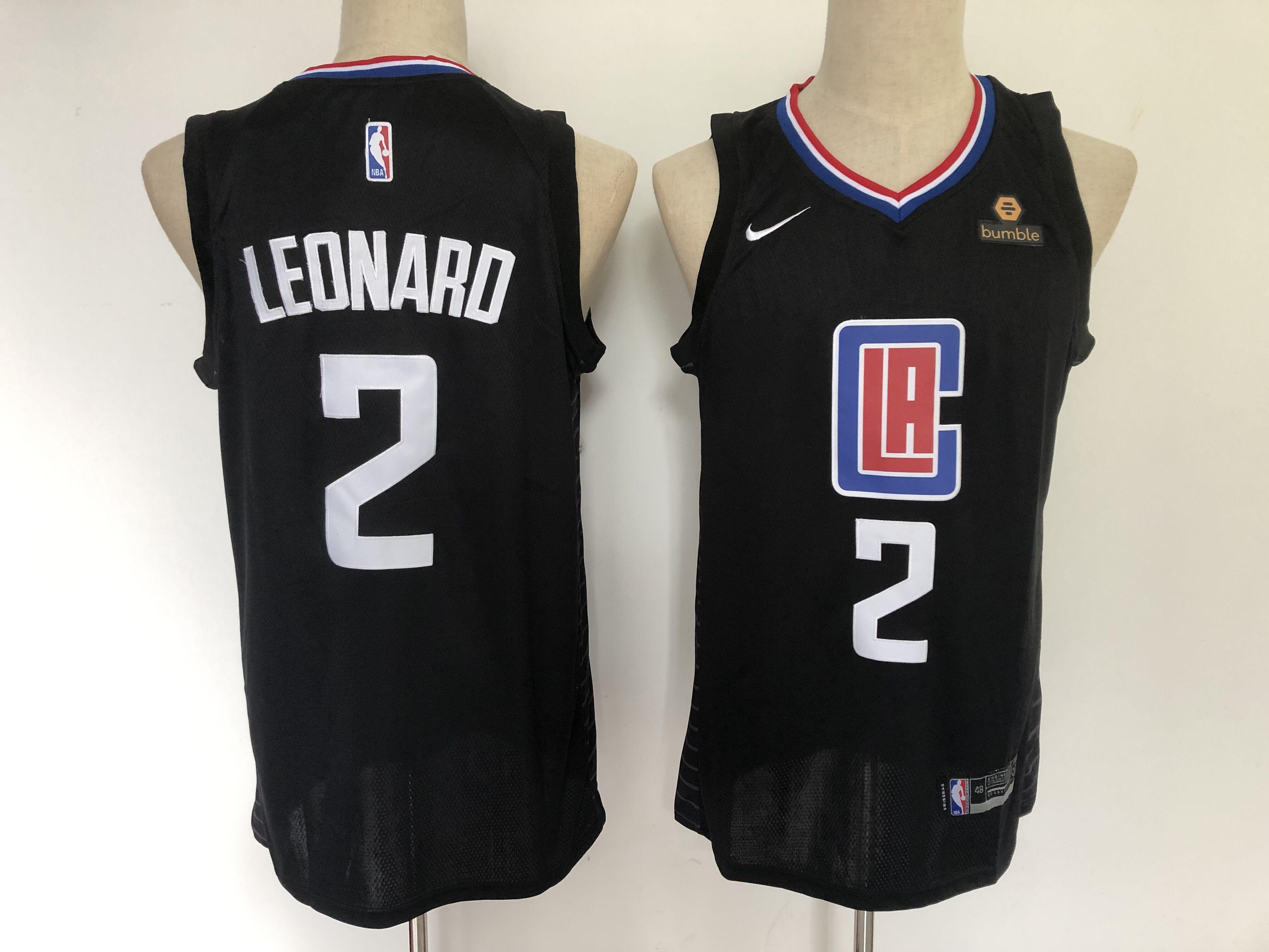 Clippers 2 Kawhi Leonard Black Nike Swingman Jersey