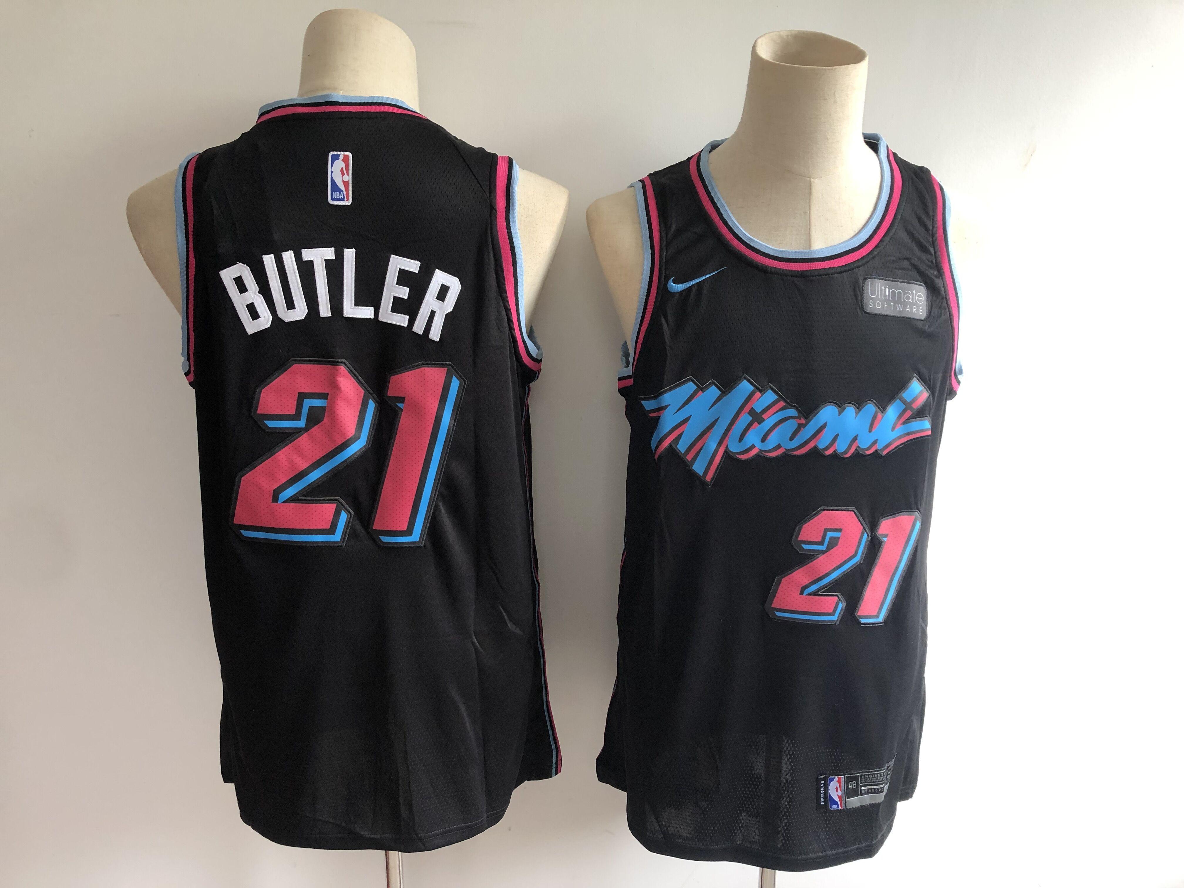 Heat 21 Jimmy Butler Black City Edition Nike Swingman Jersey