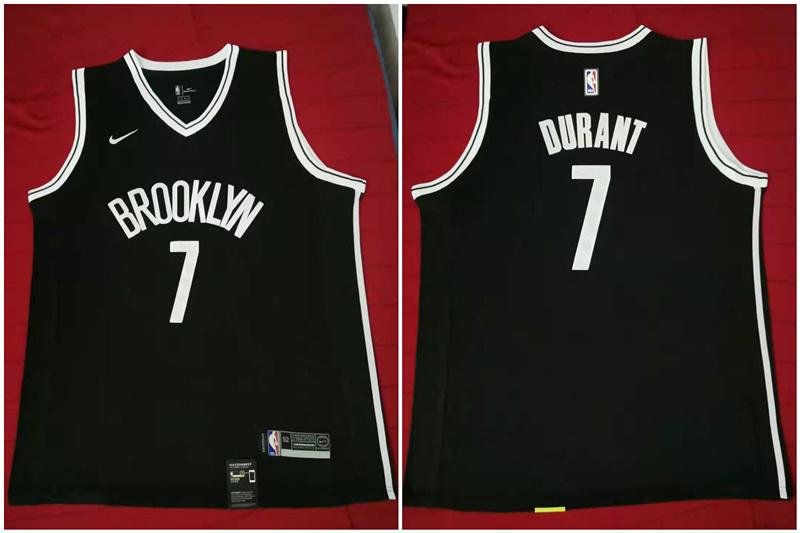 Nets 7 Kevin Durant Black Nike Swingman Jersey