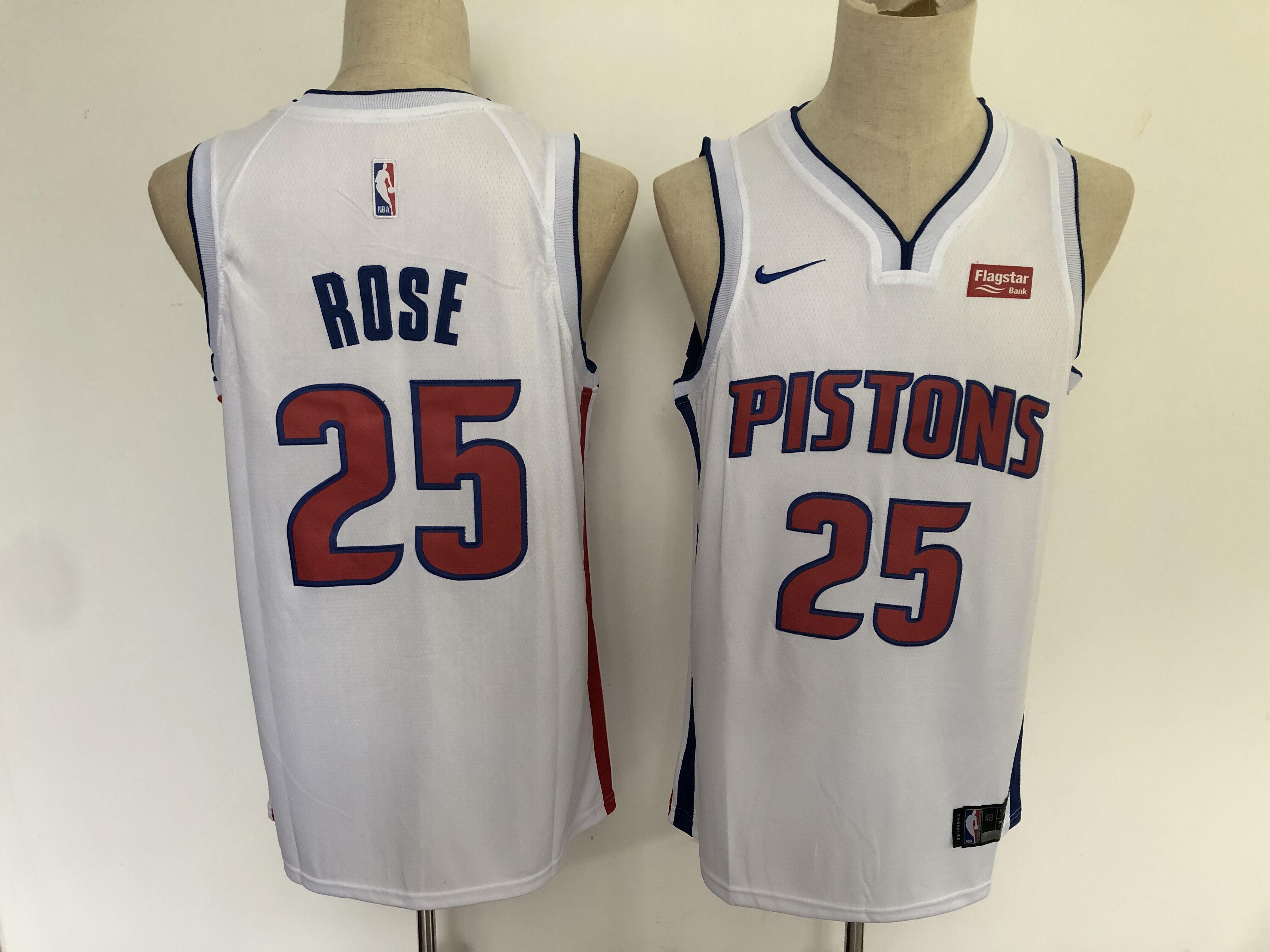 Timberwolves 25 Derrick Rose White Nike Swingman Jersey