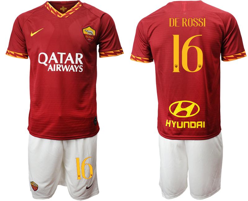 2019-20 Roma 16 DE ROSSI Home Soccer Jersey