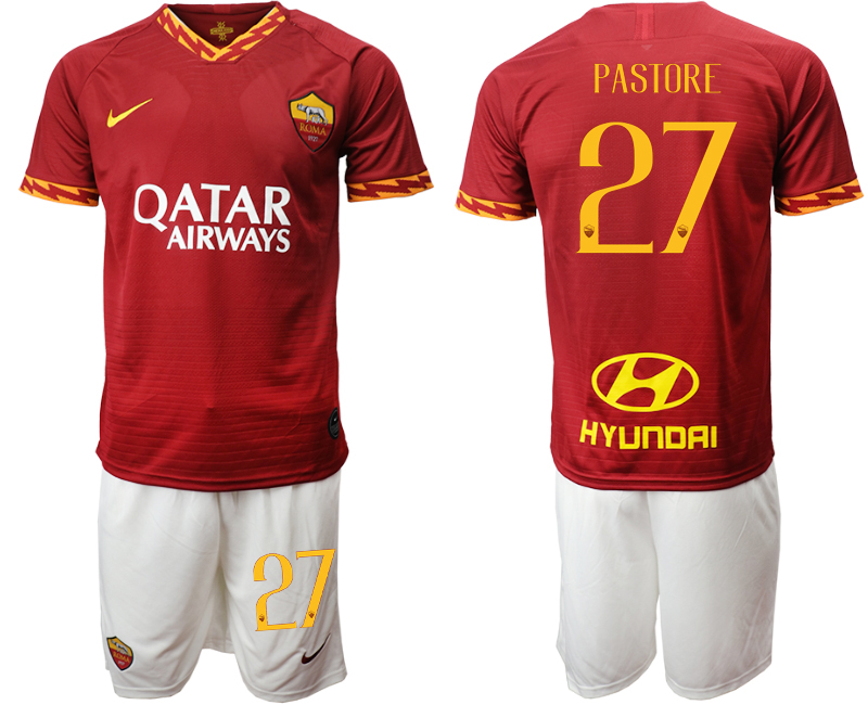 2019-20 Roma 27 PASTORE Home Soccer Jersey