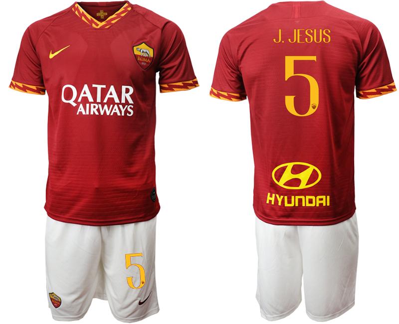 2019-20 Roma 5 J. JESUS Home Soccer Jersey