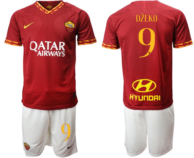2019-20 Roma 9 DZEKO Home Soccer Jersey