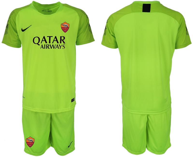 2019-20 Roma Fluorescent Green Goalkeeper Soccer Jersey