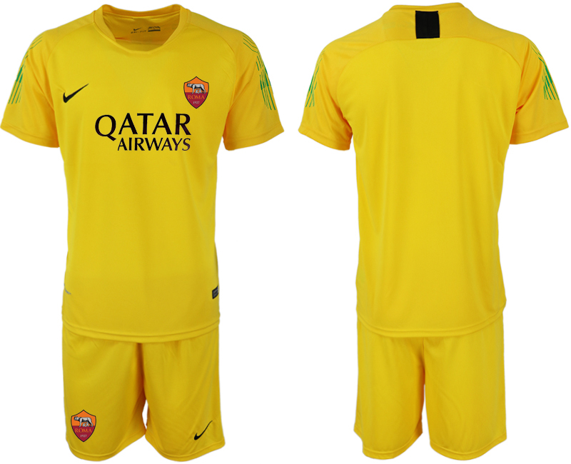 2019-20 Roma Yellow Goalkeeper Soccer Jersey